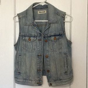 Madewell 1937 Light-wash Denim Vest Size S/M